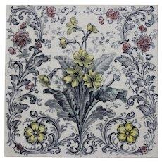 Vintage English made Transfer Tile