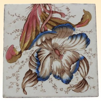 Hand painted Vintage Tile