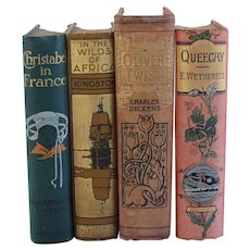 Four Antique Books including Oliver Twist