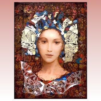 Original oil painting on canvas by KAMU Sergey & Olga