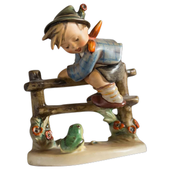 Early 20th Century Hummel Figurine -  Retreat to Safety #1201 Excellent condition - From Family Estate