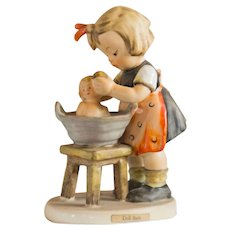 Early 20th Century Hummel Figurine -  Doll Bath #319 Excellent Condition - From Family Estate