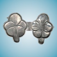 Vintage Schall and Co. Pewter Ice Cream Mould No. 269 -  Pansy Flower