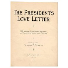 "1924 Vintage GOP Republican Party Presidential Election Historical Memorabilia- Calvin Coolidge Campaign RARE Sheet Music (2) - Greenwich CT Composer-Publisher Adaline P. Rundle - ""The President's Love Letter"" and ""The Yankee Dood'l Do"""