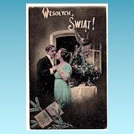 1916 Polish Language Christmas Vintage Postcard - Krakow, Poland Publisher-Jersey City, New Jersey Postmark - Brooklyn, New York Address - Polish Message
