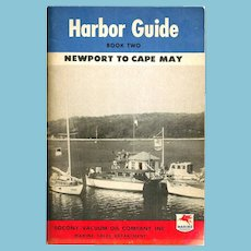 1946 MOBILgas Marine Products Advertising – Atlantic Coast Harbor Guide - Newport RI-New York-Cape May NJ - Socony-Vacuum Oil Company