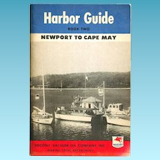 1946 MOBILgas Marine Products Advertising – Atlantic Coast Harbor Guide - Newport RI-New York-Cape May NJ - Socony-Vacuum Oil Company