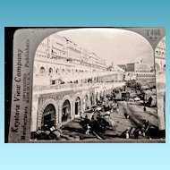 c1920 Algiers Algeria Kasbah Harbor Wall Stereo-view – Keystone Glossy Finish Real Photo Stereo View