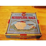 """Whirling Aeroplane Race Vintage Game in Original Box - """"Mac"""" No. 60 Manufactured by McDowell Mfg. Co., of Pittsburgh, Pennsylvania - c1920-1939"""