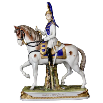 Vintage German Porcelain figure Imperial Garde from Kister Scheibe Alsbach