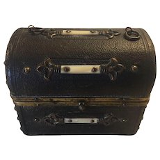 Continental Shagreen with Mother of pearle Miniature Perfume trunk