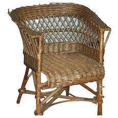 Child's rattan chair