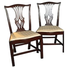 Pair of George III dining chairs, circa 1770