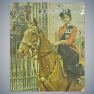"""Vintage, Huntley & Palmer Biscuit Tin, Featuring, """" The Queen and her Horse """""""