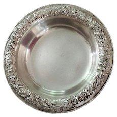 Sterling Silver, Repousse, Bonbon Dish / Coaster