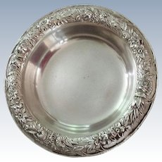 Silver Repousse Bonbon Dish ~ Coaster
