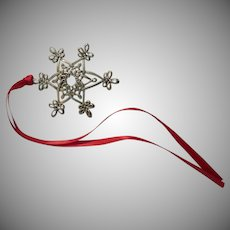 Sterling Silver Star Ornament