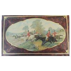 Equestrian Fox Hunt Vintage Tin Box