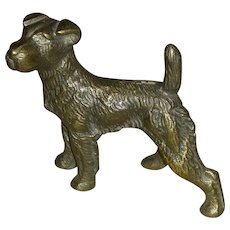 Vintage, Hubley, Wire Fox Terrier,  Paperweight