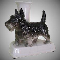 Vintage Dog, Jardiniere/Vase, Featuring a Scottie
