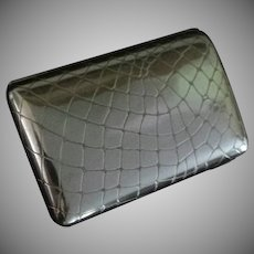Sterling Silver Cigarette Case, George Adam Shield