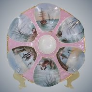 Stunning 19th Century Maritime Theme Oyster Plate