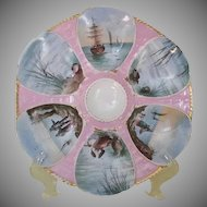 Gorgeous Limoges Oyster Plate, Marital & Redon