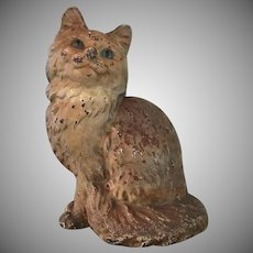 Vintage, Hubley,  Cast Iron, Persian Cat, Door Stop