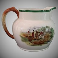 Vintage, Equestrian, Fox Hunt, Herring, Pitcher