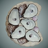 19th Century Crescent Shape Oyster Plate