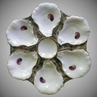 Handsome Limoges Oyster Plate