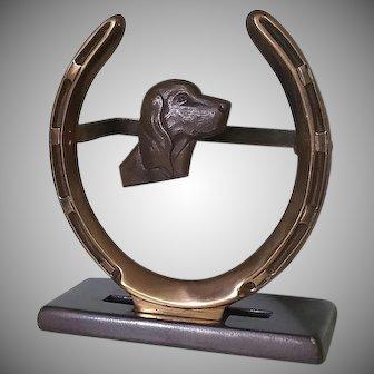 Equestrian, Bronze Brush Holder, Vintage