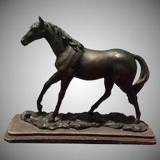 Vintage Equestrian Bronze  Horse