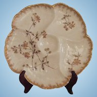 19th Century Oyster Plate, Haviland, Limoge
