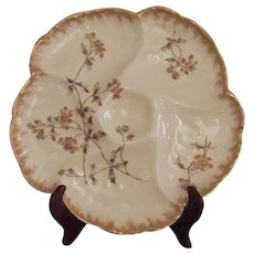 19th Century Oyster Plate, Haviland, Limoges
