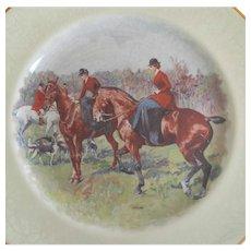 Vintage Equestrian  Hunt Plate, England