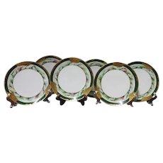 19th Century, HAVILAND, OYSTER, Plates, Set of Six