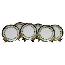19th Century Oyster Design Plates, Set of Six