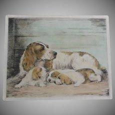 Ruben Ward Binks, Dog Etching, England