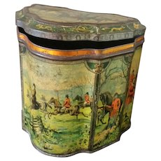 19th Century Equestrian Huntley & Palmer Biscuit Tin ~ Circa 1894