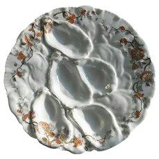 Antique, Turkey Oyster Plate, Haviland, Limoges, France