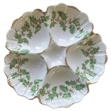 19th Century Rare Holly Oyster Plate