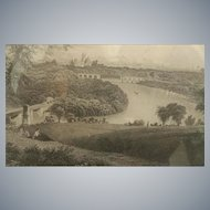 Philadelphia ~ Belmont Park ~ 19th Century Engraving