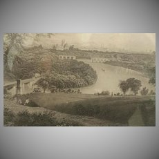 19th Century,  Philadelphia, Belmont Park, Engraving