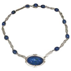 Sterling Lapis Lazuli Necklace