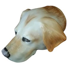 Vintage Stirrup Cup ~ Yellow Labrador Retriever
