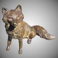 Antique Bronze Fox