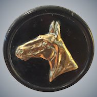 Horse Profile Brass Plaque