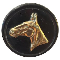 Antique Brass Horse Plaque