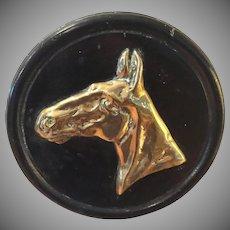 Antique Brass Horse Plaque